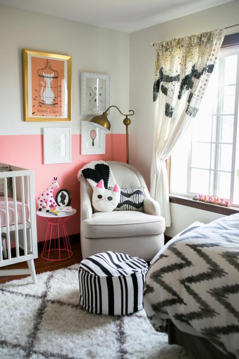 Kindergardinen Babyzimmer gestalten Gardinenideen Babyzimmer Möbel