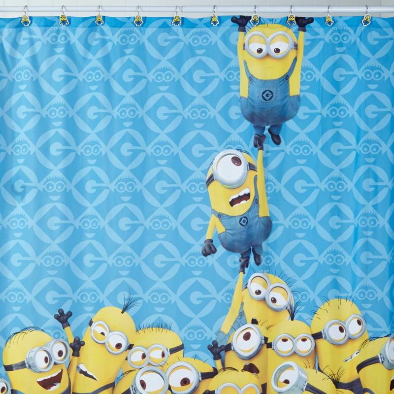 Kindergardinen Duschvorhang Kinderzimmer Minons