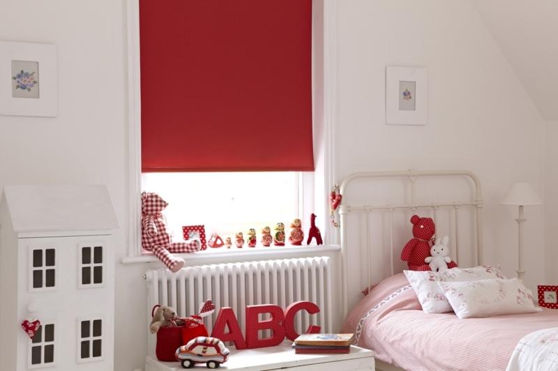 Kindergardinen mit lustigen mustern beleben das kinderzimmer - Kinderzimmer rot ...