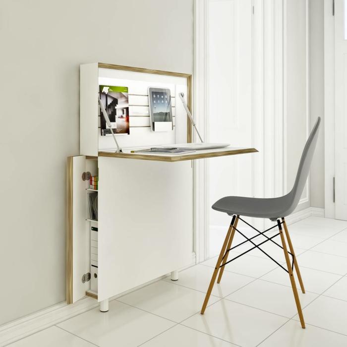 Klappschreibtisch kleines Home Office Möbel