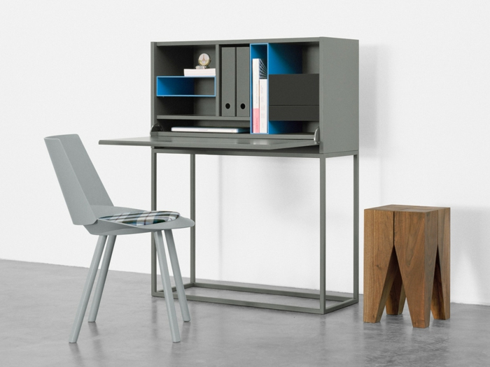 klappschreibtisch im kleinen home office 33 fotobeispiele. Black Bedroom Furniture Sets. Home Design Ideas