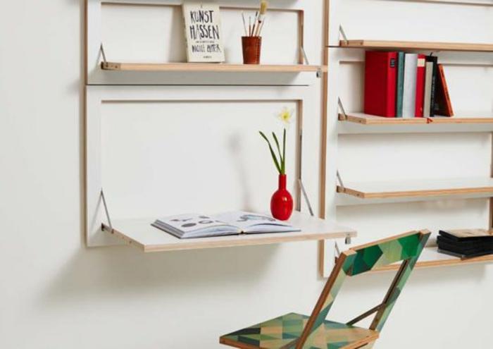 Klappschreibtisch im kleinen home office 33 fotobeispiele for Praktische einrichtungsideen
