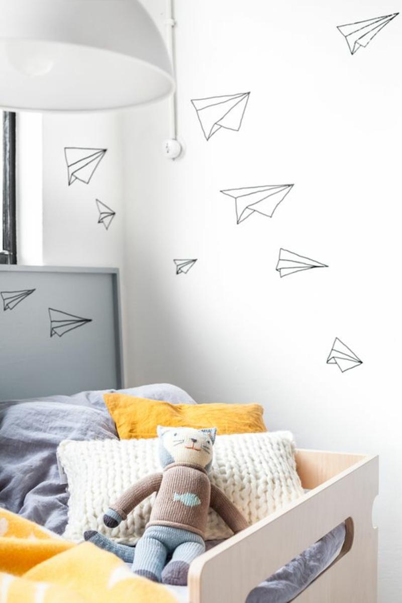Lustige Tapeten Muster fürs Kinderzimmer Beispiele