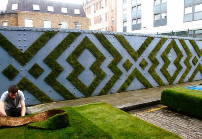 Moos Graffiti streetart künstler ornament muster