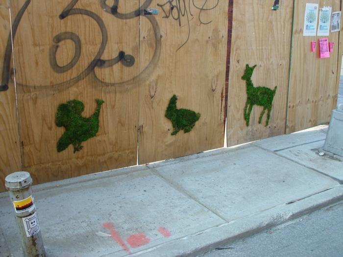 streetart künstler ornament waldtiere