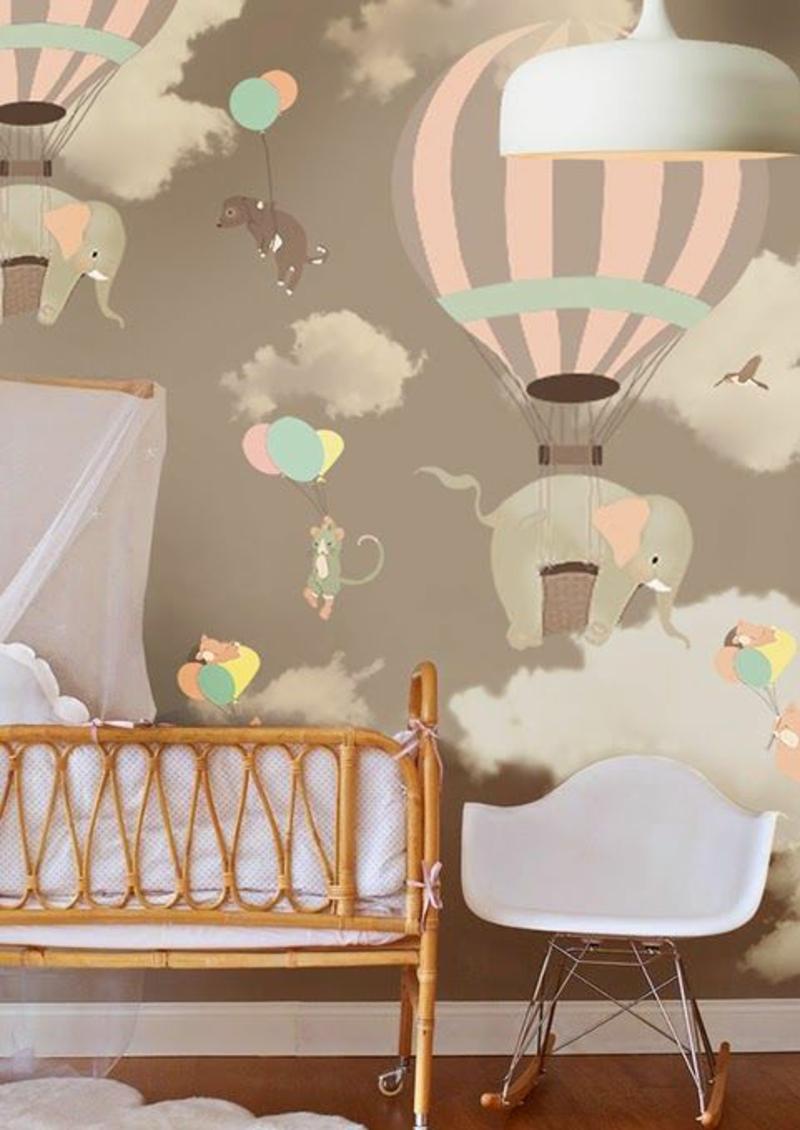 Mustertapeten Babyzimmern Tapeten für Kinderzimmer gestalten