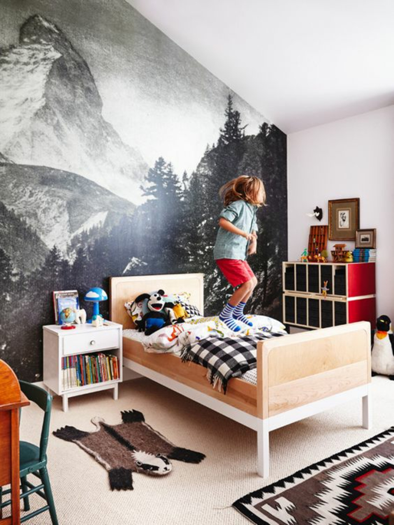 Mustertapeten Foto Tapeten für Kinderzimmer gestalten
