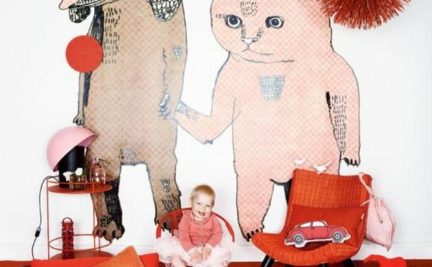 Mustertapeten-Tapeten-Kinderzimmer-kreativ-gestalten