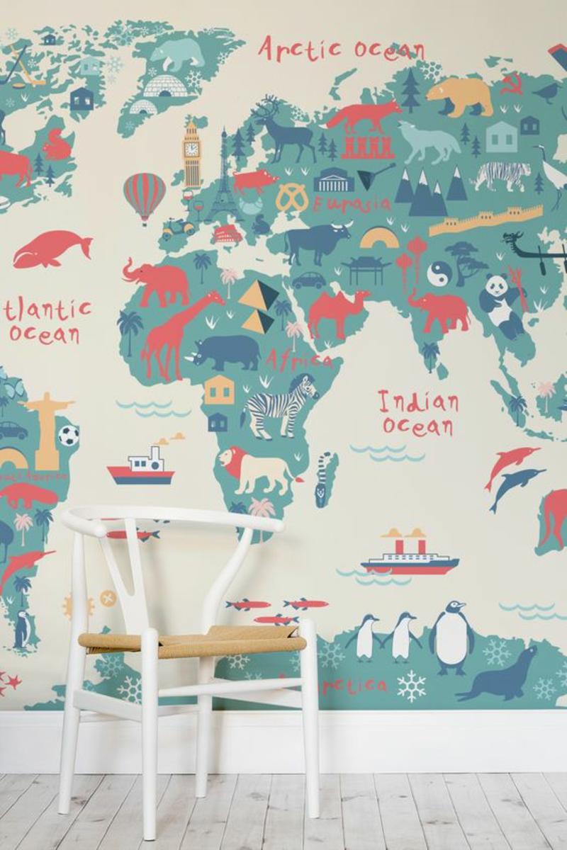 Mustertapeten Tapeten für Kinderzimmer Weltparte