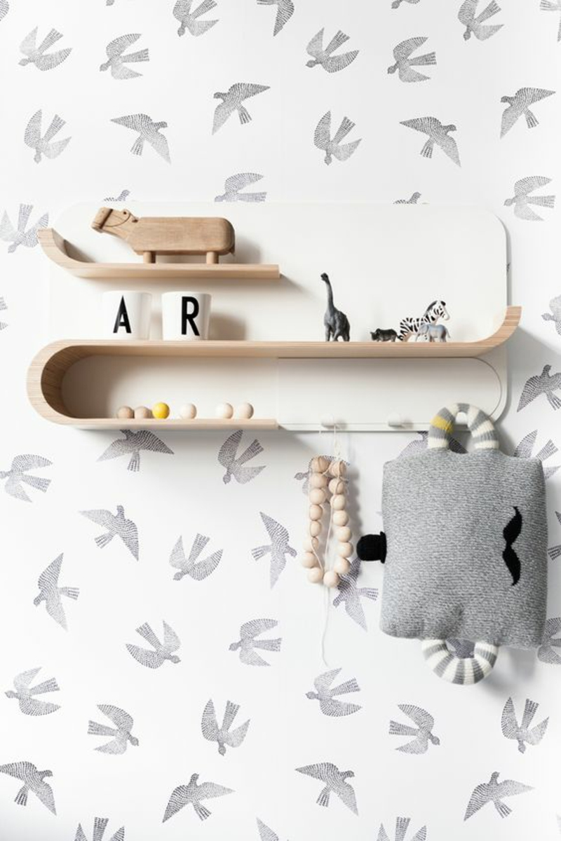 Mustertapeten Vögel Tapeten für Kinderzimmer gestalten