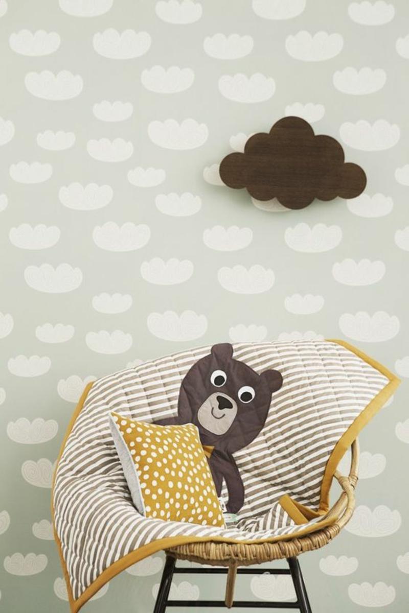 Mustertapeten Wolken Tapeten für Kinderzimmer gestalten
