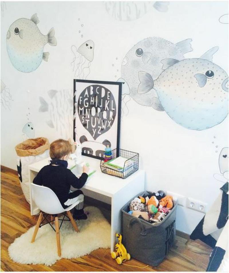 Mustertapeten abstrakte Wolken Tapeten für Kinderzimmer kreativ gestalten