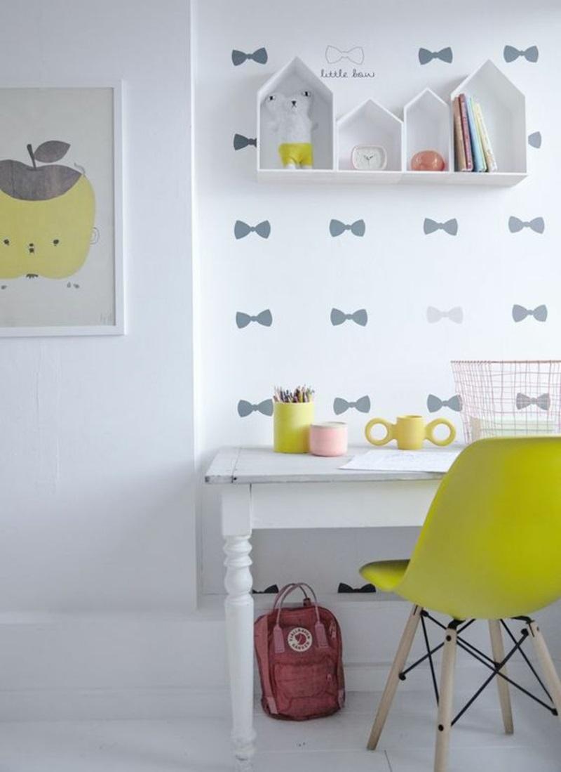 Mustertapeten kleine Schleifen Tapeten für Kinderzimmer gestalten