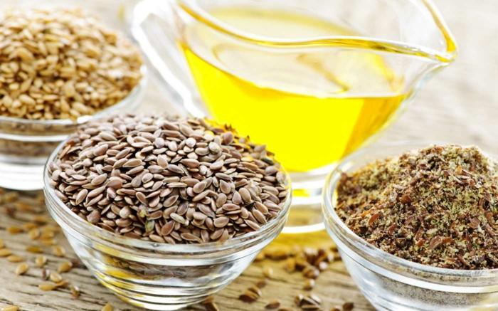 Omega 3 Fettsäuren Lebensmittel gesundes Essen leinöl