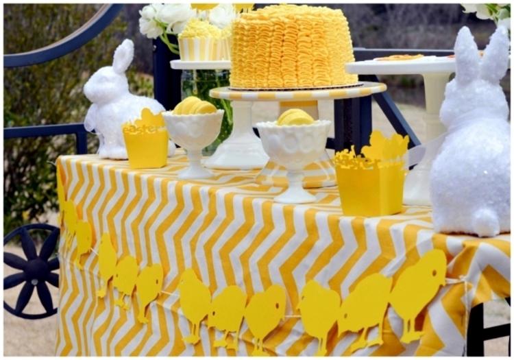 Osterdeko Garten Ideen festliche Tischdekoration