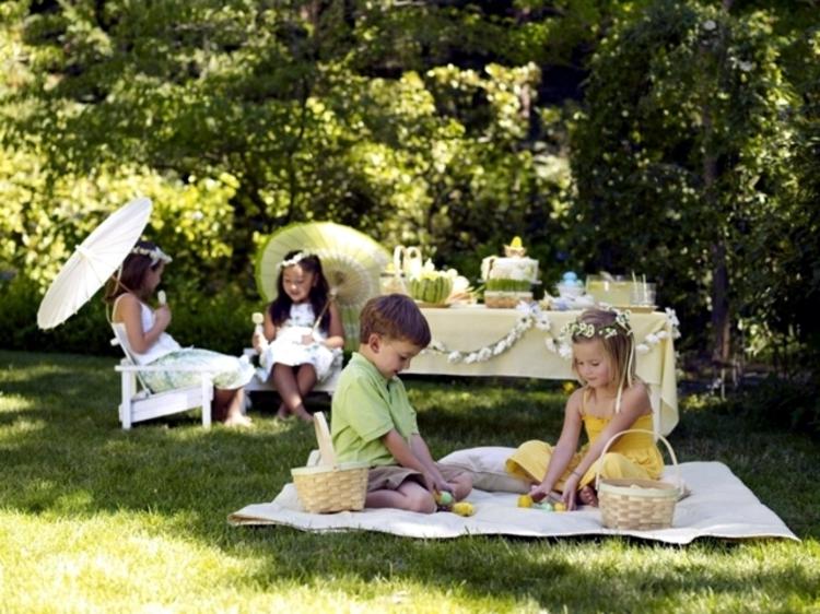 Osterdeko Garten Osterdeko basteln mit Kindern