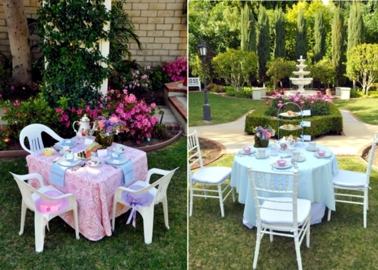 Osterdeko Garte Tischdekoration Gartenparty Deko Ideen