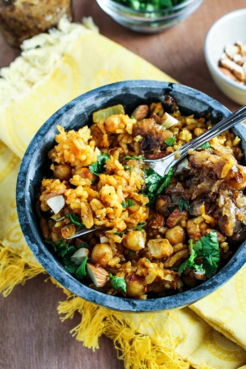 Pakistani Chickpea Pulao pakistanische Küche Gerichte