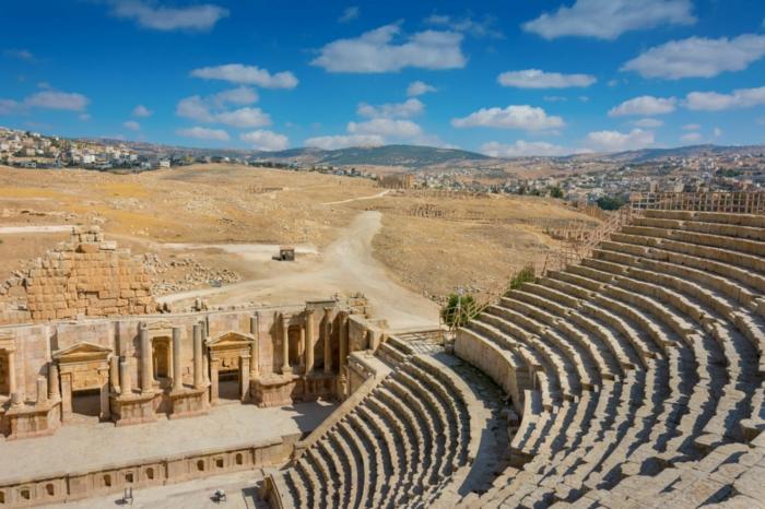 Petra Jordanien Hauptstadt Gerasa ovales forum römisch 2