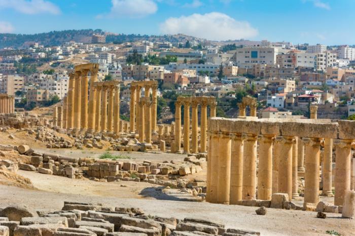 Petra Jordanien Hauptstadt Jordanien Gerasa ovales forum römisch 3
