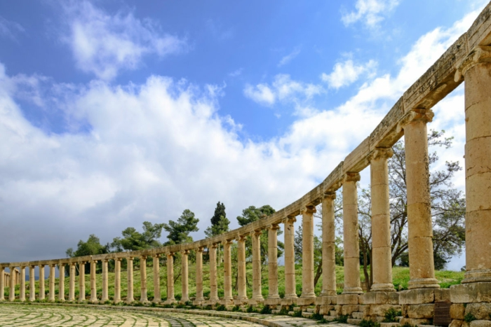 Petra Jordanien Hauptstadt Jordanien Gerasa ovales forum römisch 4