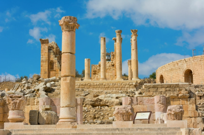 Petra Jordanien Hauptstadt Jordanien Gerasa ovales forum römisch 5