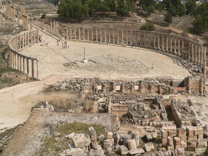 Petra Jordanien Hauptstadt Jordanien Gerasa ovales forum römisch