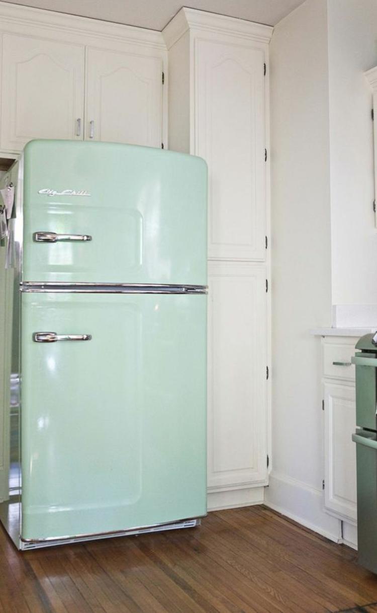 Retro Kühlschränke mintgrün Einrichtungsideen Retro Stil