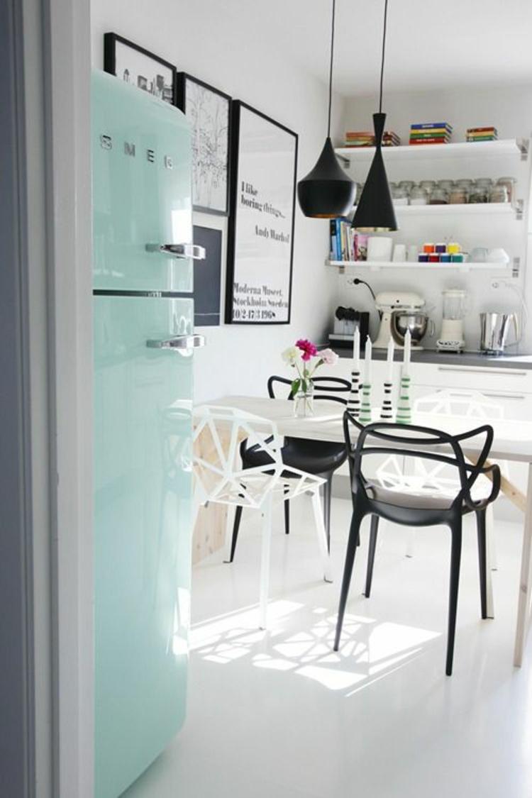 Retro Kühlschränke mintgrün Küchengestaltung Ideen