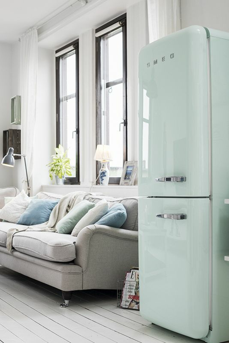 Retro Kühlschränke mintgrün smeg Kühlschrank