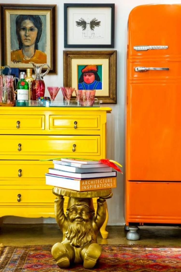 Retro Kühlschränke orange Kühlschrank retro