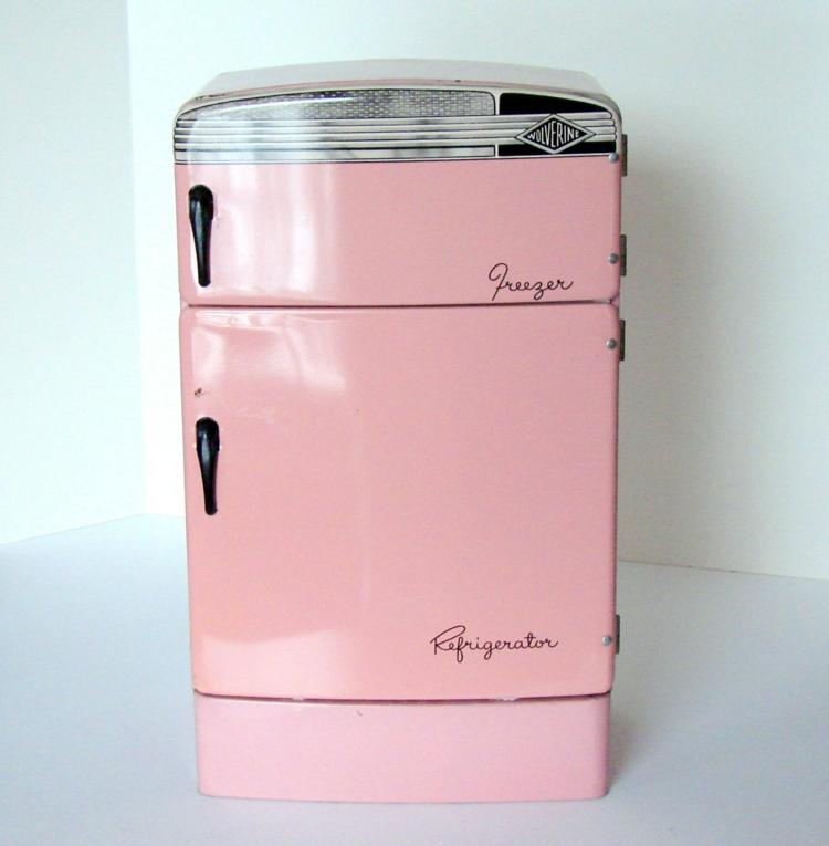 Retro Kühlschränke rosa klein Küchengestaltung Ideen