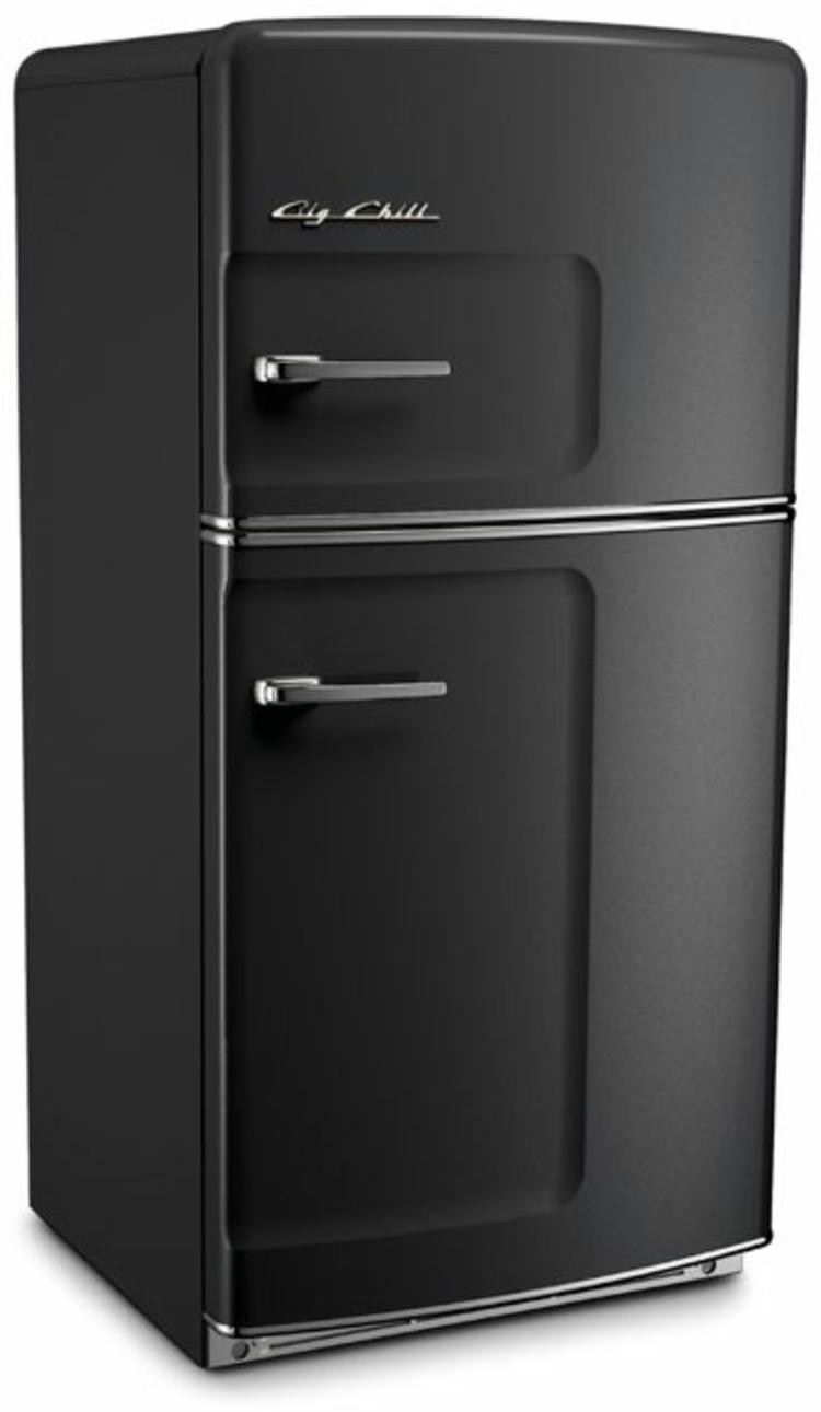 Retro Kühlschränke schwarz Küchengestaltung Ideen