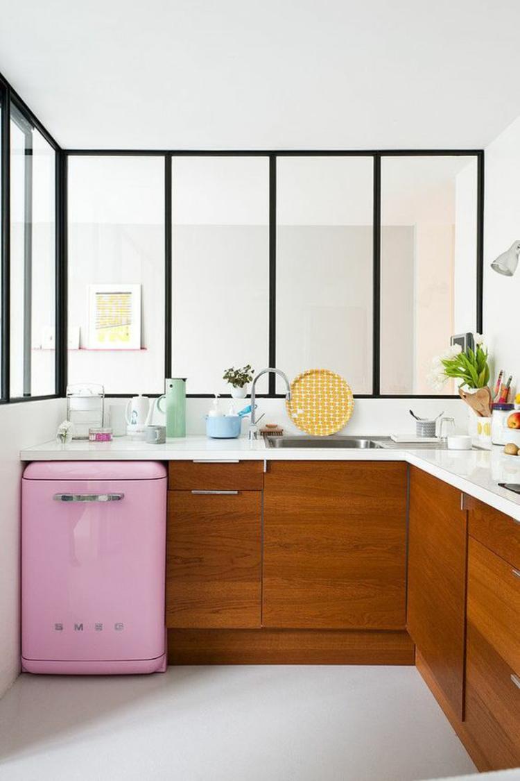 Retro Kühlschränke smeg Retro Kühlschrank rosa klein Küchenunterschränke