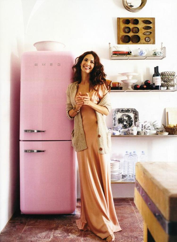 Retro Kühlschränke smeg rosa Küchengestaltung Ideen