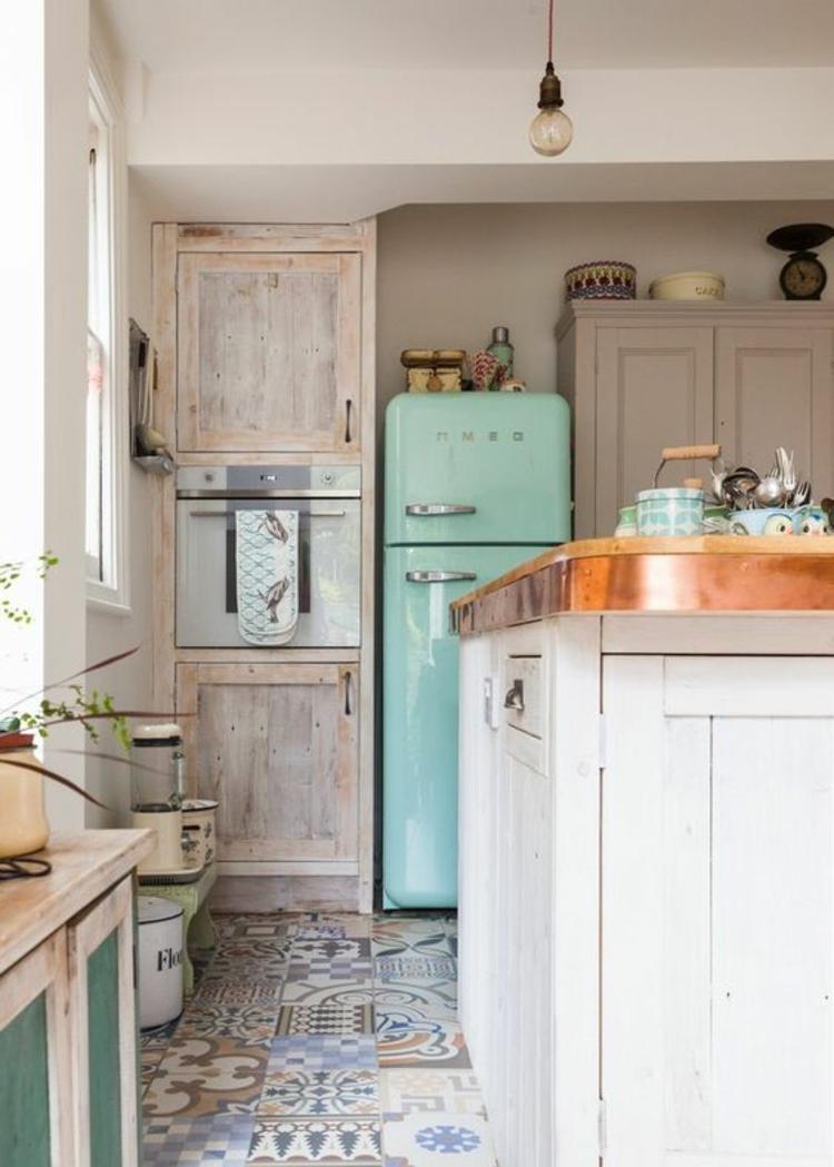 Retro Kühlschrank smeg mintgrün Küchengestaltung Ideen