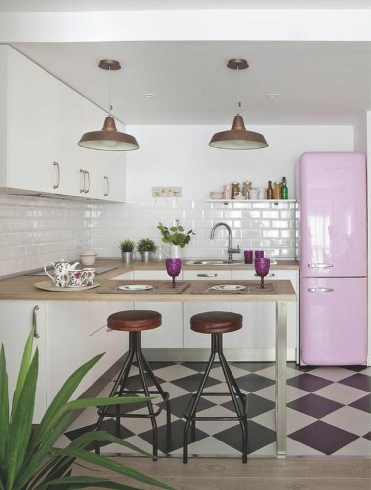 Retro Kühlschrank smeg rosa Küchengestaltung Ideen