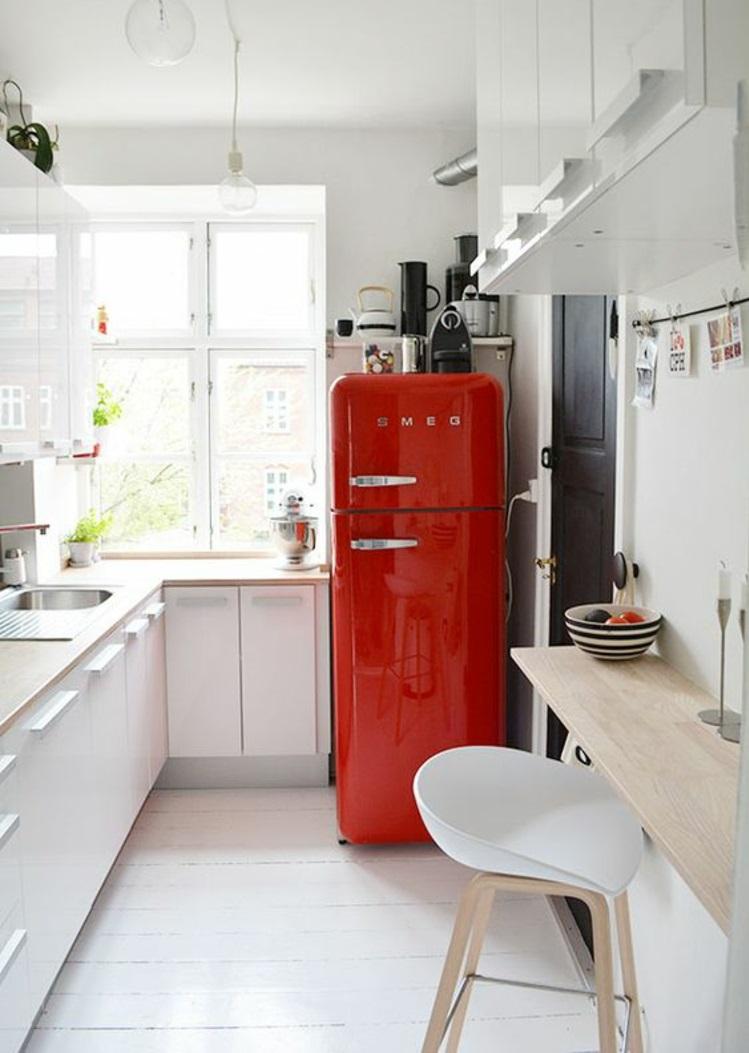Retro Kühlschrank smeg rot Küchengestaltung Ideen