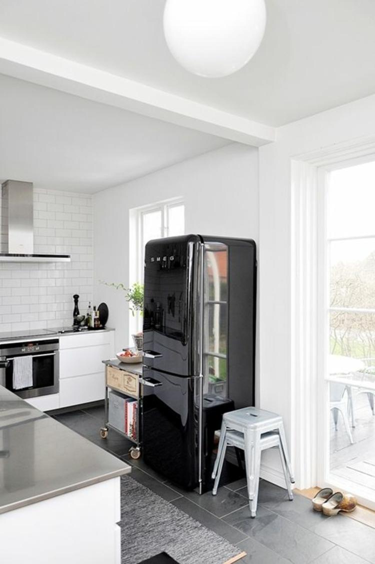 Retro Kühlschrank Smeg Schwarz Küchengestaltung Ideen