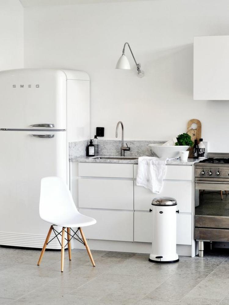 Retro Kühlschrank smeg weiß Küchengestaltung Ideen