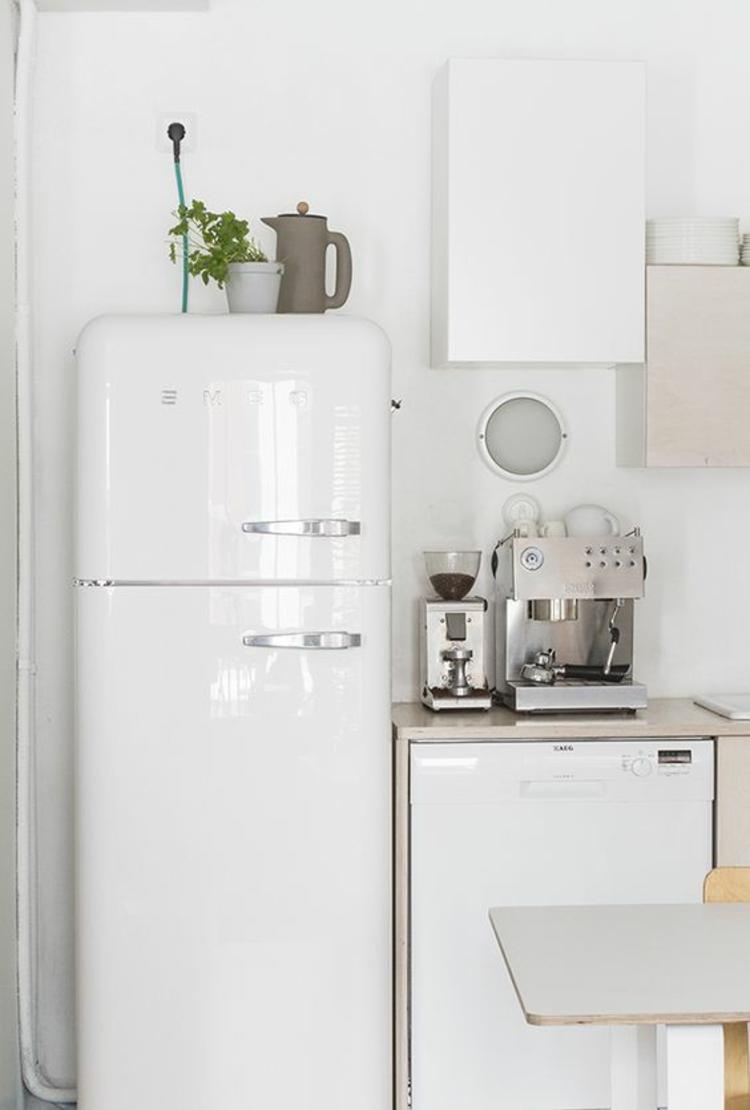 Smeg Retro Kühlschränke weiß Küchengestaltung Ideen