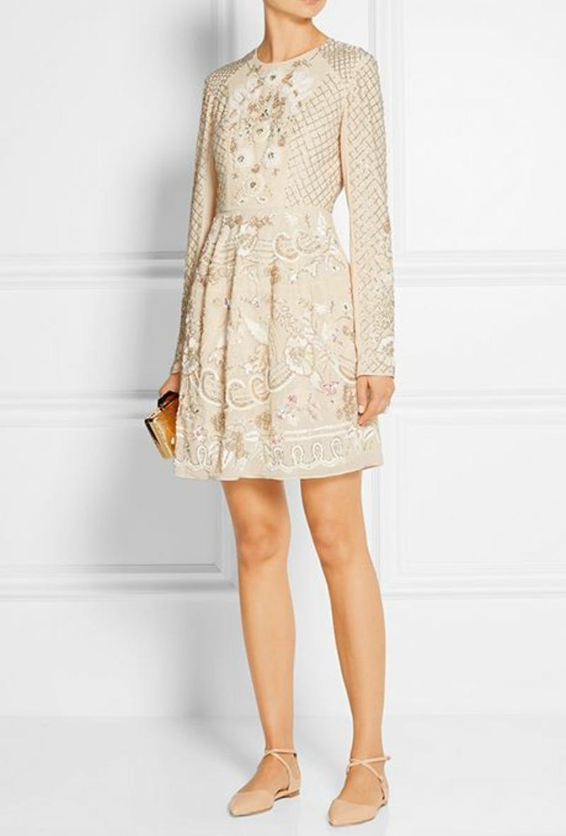 Standesamt Kleid kurz Brautmode elfenbeinfarbiges Hochzeitskleid