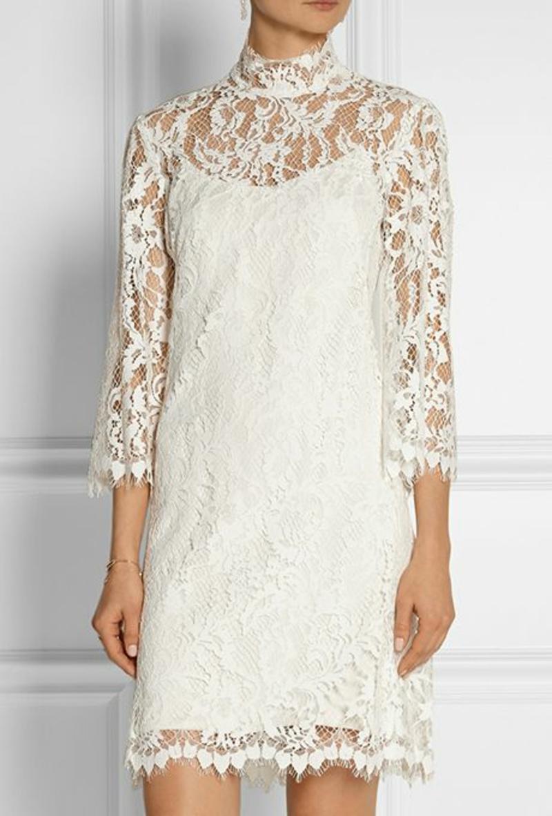 Standesamt Kleid kurz Spitze Brautmode klassische Modelle