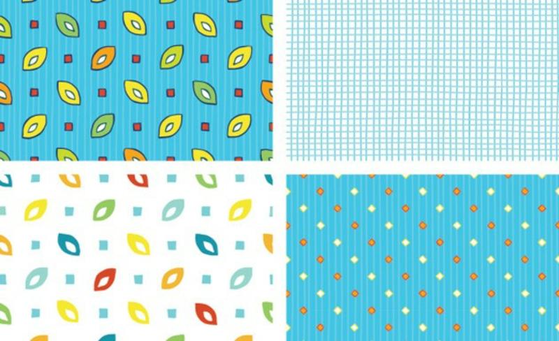 Tapeten Kinderzimmer Muster in Blau Beispiele Jungenzimmer