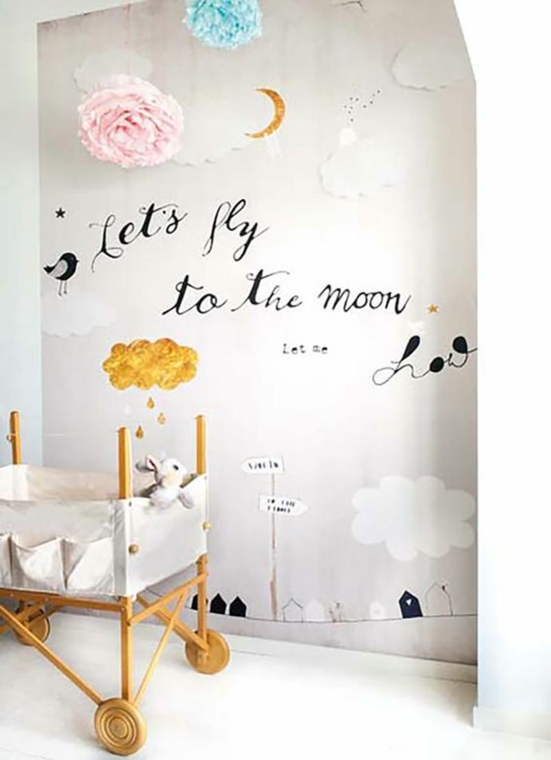 Fantastisch Farbige Tapeten Für Kinderzimmer Mit Lustigen Motiven ...