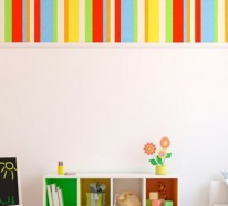 Farbige Tapeten für Kinderzimmer mit lustigen Motiven
