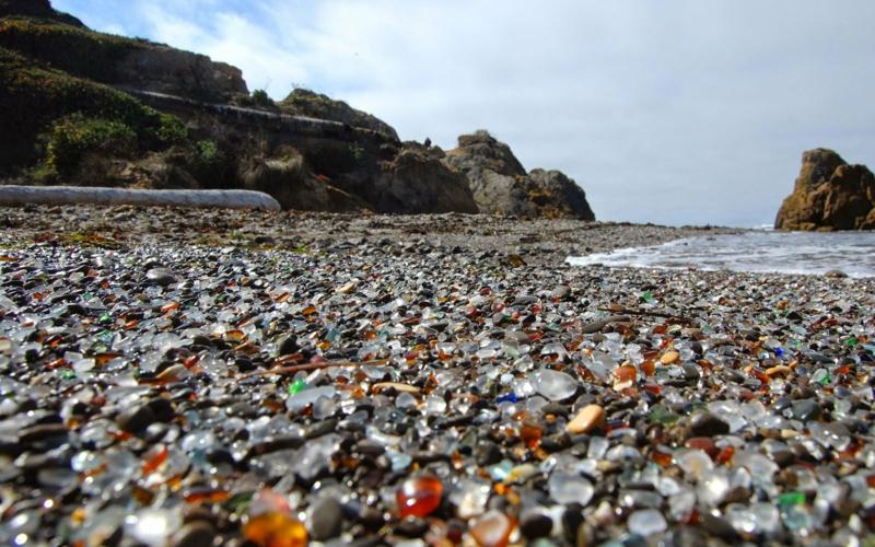 die schönsten Strände der Welt Glass Beach Fort Bragg CA