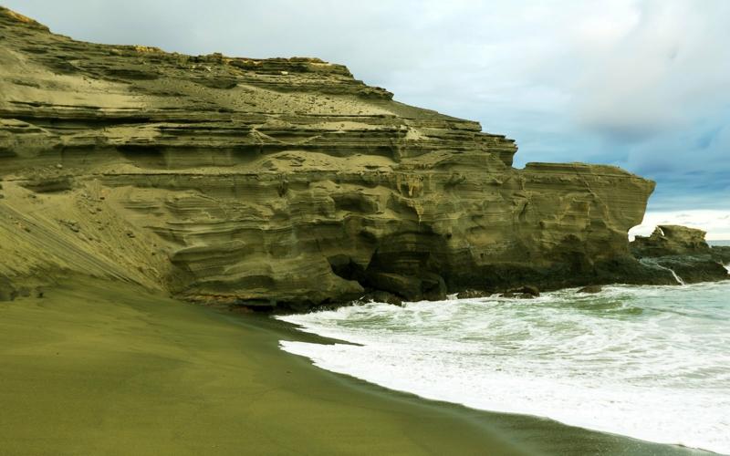 Traumstrände der Welt Papakolea Beach Hawaii die schönsten Strände der Welt