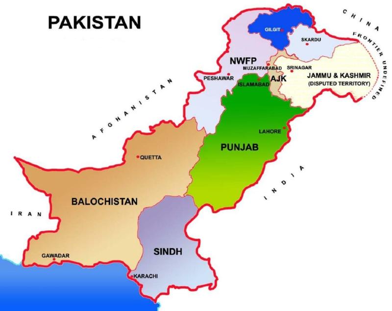 Wo liegt Pakistan Karte pakistanische Küche Gerichte
