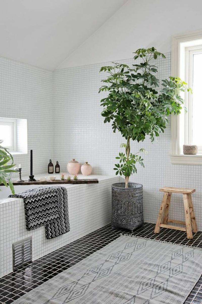 Wohnung skandinavisch einrichten Badezimmer dekorieren